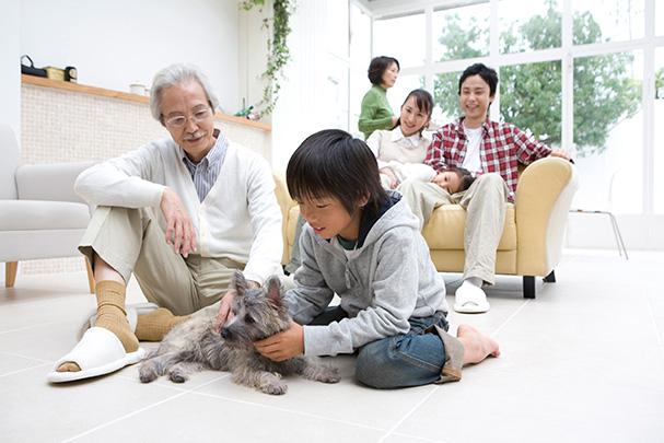 家族が中心のデザイン
